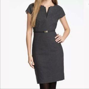 Ted Baker Neyoad Dress Wool Cap Sleeve Grey Size 0